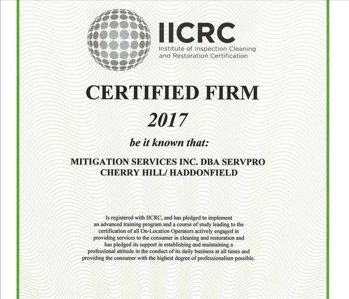 IICRC Certified Firm 2017